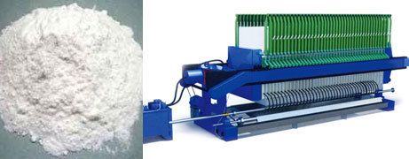 Bleaching powder filter press