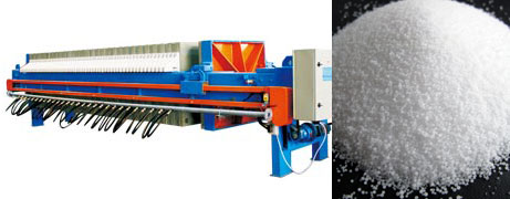 Caustic soda filter press