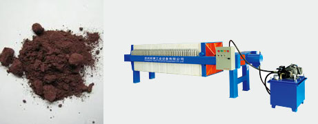 Phosphor filter press