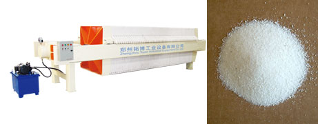 Potassium chlorate filter press